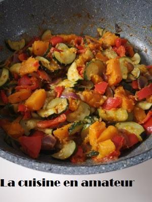 Poêlée légumes potiron