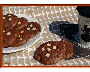 Cookies Brownies en noir et blanc
