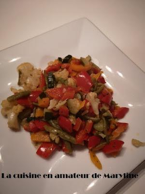 Poêlée légumes graines sésame