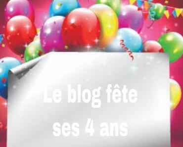 Le blog fête ses 4 ans