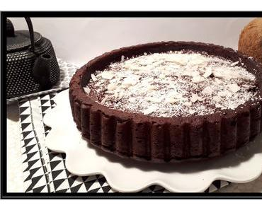 Gâteau moelleux chocolat et noix de coco vegan
