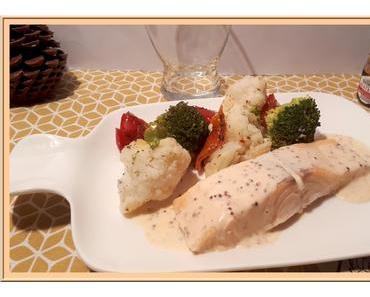 Pavés de saumon vapeur aux légumes
