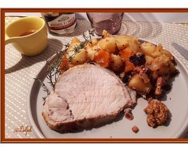Rôti de porc à la moutarde à l'ancienne avec ou sans le cookéo