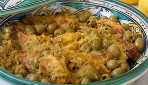 Tajine poulet citron confit olives