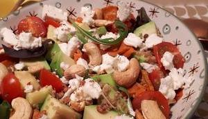 Salade patates douces quinoa feta
