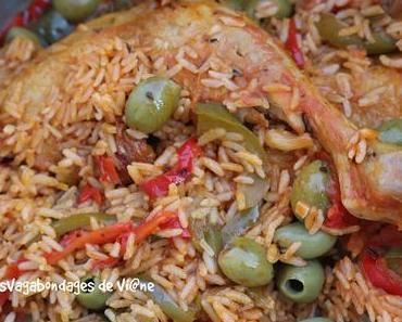 Cuisses de poulet aux poivrons et olives
