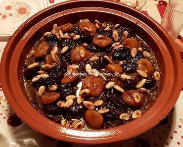 Tajine de bœuf aux pruneaux, abricots et amandes