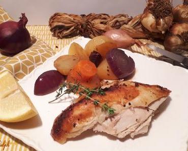 Poulet rôti au four au thym et citron