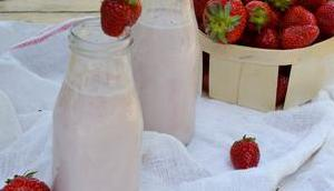 Lait fraises maison