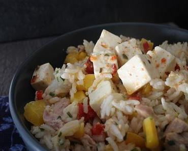 Salade de riz froide simple
