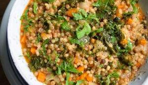 pâtes week-end Fregola sarde kale