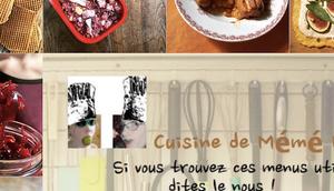 menus cuisine mémé Moniq septembre