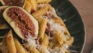 Pâtes figues pancetta