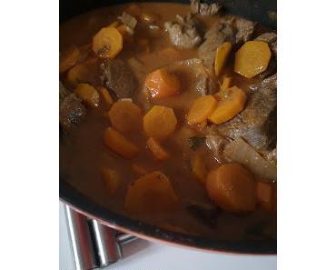 Boeuf façon stroganoff aux carottes