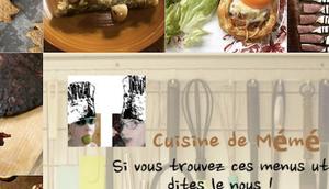 menus cuisine mémé Moniq octobre
