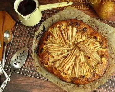 Tarte rustique aux poires et fève tonka
