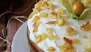 Layer cake pommes caramélisées chantilly coco sans gluten, lait, œufs
