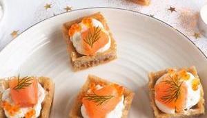 Mini gaufres saumon