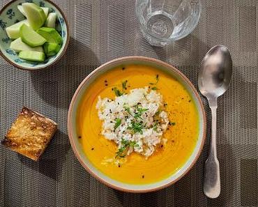 Du jardin – Soupe de potimarron au riz