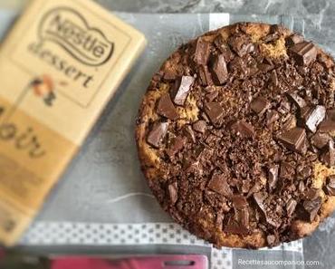 Recette du blondie le gâteau cookie aux pépites de chocolat au companion thermomix ou sans robot