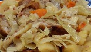 Saucisses chou blanc, pommes terre cidre