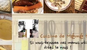 menus cuisine mémé Moniq janvier