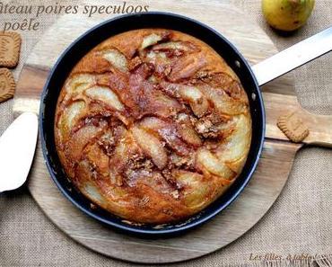 Gâteau aux poires et spéculoos