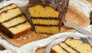 Cake fourré chocolat glaçage rocher