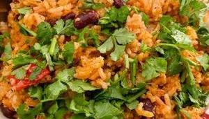 Spanish Rice tomate haricots tempeh caramélisé)