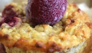 Muffins flocons d'avoine framboises