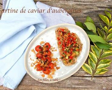 Tartines de caviar d'aubergines