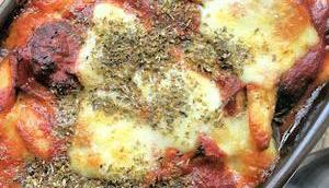 Gratin courgettes sauce tomate