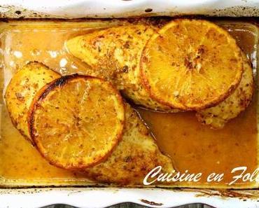 Poulet grillé à l'orange